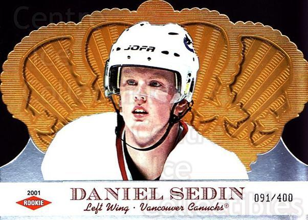 2000-01 Crown Royale #143 Daniel Sedin<br/>1 In Stock - $10.00 each - <a href=https://centericecollectibles.foxycart.com/cart?name=2000-01%20Crown%20Royale%20%23143%20Daniel%20Sedin...&quantity_max=1&price=$10.00&code=279563 class=foxycart> Buy it now! </a>