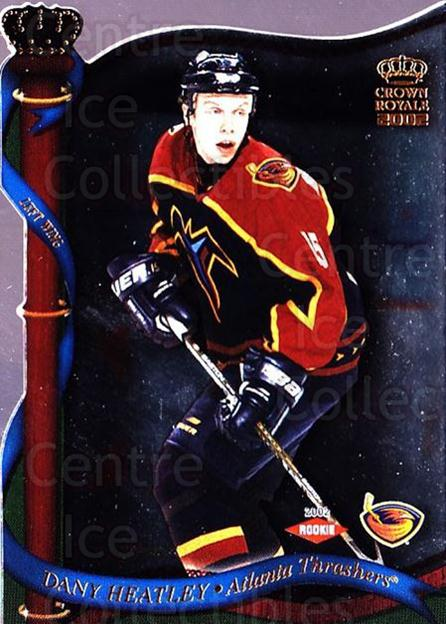 2001-02 Crown Royale #6 Dany Heatley<br/>4 In Stock - $1.00 each - <a href=https://centericecollectibles.foxycart.com/cart?name=2001-02%20Crown%20Royale%20%236%20Dany%20Heatley...&quantity_max=4&price=$1.00&code=279565 class=foxycart> Buy it now! </a>