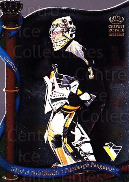 2001-02 Crown Royale #114 Johan Hedberg<br/>4 In Stock - $1.00 each - <a href=https://centericecollectibles.foxycart.com/cart?name=2001-02%20Crown%20Royale%20%23114%20Johan%20Hedberg...&quantity_max=4&price=$1.00&code=279584 class=foxycart> Buy it now! </a>
