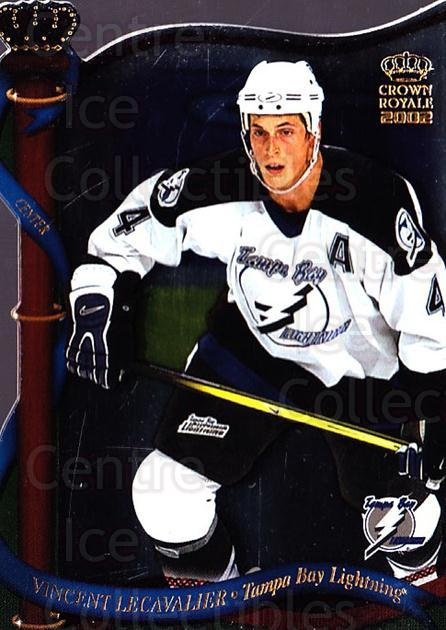 2001-02 Crown Royale #128 Vincent Lecavalier<br/>4 In Stock - $1.00 each - <a href=https://centericecollectibles.foxycart.com/cart?name=2001-02%20Crown%20Royale%20%23128%20Vincent%20Lecaval...&quantity_max=4&price=$1.00&code=279588 class=foxycart> Buy it now! </a>