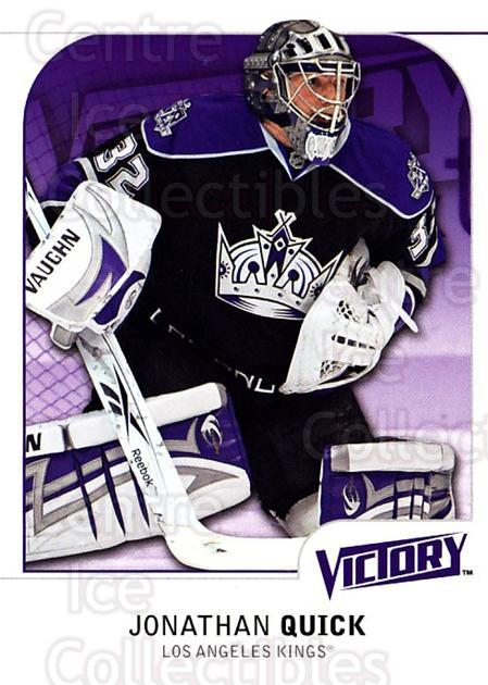 2009-10 UD Victory #272 Jonathan Quick<br/>5 In Stock - $2.00 each - <a href=https://centericecollectibles.foxycart.com/cart?name=2009-10%20UD%20Victory%20%23272%20Jonathan%20Quick...&quantity_max=5&price=$2.00&code=279648 class=foxycart> Buy it now! </a>
