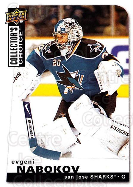 2008-09 Collectors Choice #58 Evgeni Nabokov<br/>3 In Stock - $1.00 each - <a href=https://centericecollectibles.foxycart.com/cart?name=2008-09%20Collectors%20Choice%20%2358%20Evgeni%20Nabokov...&quantity_max=3&price=$1.00&code=279734 class=foxycart> Buy it now! </a>