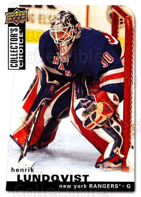 2008-09 Collectors Choice #63 Henrik Lundqvist<br/>2 In Stock - $2.00 each - <a href=https://centericecollectibles.foxycart.com/cart?name=2008-09%20Collectors%20Choice%20%2363%20Henrik%20Lundqvis...&quantity_max=2&price=$2.00&code=279739 class=foxycart> Buy it now! </a>