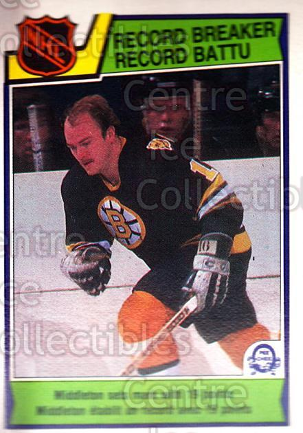 1983-84 O-Pee-Chee #214 Rick Middleton<br/>9 In Stock - $1.00 each - <a href=https://centericecollectibles.foxycart.com/cart?name=1983-84%20O-Pee-Chee%20%23214%20Rick%20Middleton...&quantity_max=9&price=$1.00&code=27976 class=foxycart> Buy it now! </a>
