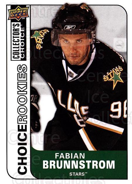 2008-09 Collectors Choice #207 Fabian Brunnstrom<br/>4 In Stock - $2.00 each - <a href=https://centericecollectibles.foxycart.com/cart?name=2008-09%20Collectors%20Choice%20%23207%20Fabian%20Brunnstr...&quantity_max=4&price=$2.00&code=279883 class=foxycart> Buy it now! </a>