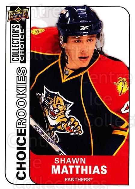 2008-09 Collectors Choice #226 Shawn Matthias<br/>4 In Stock - $2.00 each - <a href=https://centericecollectibles.foxycart.com/cart?name=2008-09%20Collectors%20Choice%20%23226%20Shawn%20Matthias...&quantity_max=4&price=$2.00&code=279902 class=foxycart> Buy it now! </a>