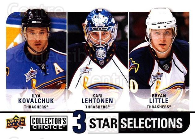 2008-09 Collectors Choice #252 Ilya Kovalchuk, Kari Lehtonen, Bryan Little<br/>2 In Stock - $3.00 each - <a href=https://centericecollectibles.foxycart.com/cart?name=2008-09%20Collectors%20Choice%20%23252%20Ilya%20Kovalchuk,...&quantity_max=2&price=$3.00&code=279928 class=foxycart> Buy it now! </a>