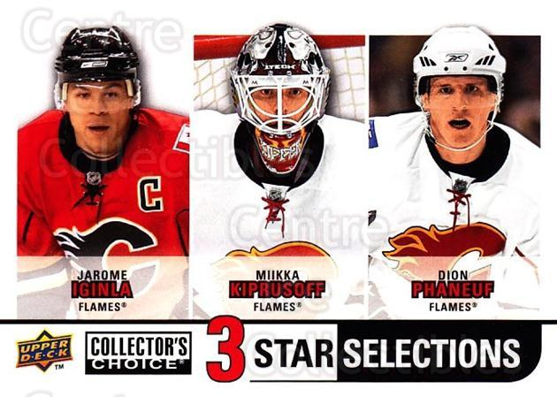 2008-09 Collectors Choice #255 Jarome Iginla, Miikka Kiprusoff, Dion Phaneuf<br/>2 In Stock - $3.00 each - <a href=https://centericecollectibles.foxycart.com/cart?name=2008-09%20Collectors%20Choice%20%23255%20Jarome%20Iginla,%20...&quantity_max=2&price=$3.00&code=279931 class=foxycart> Buy it now! </a>