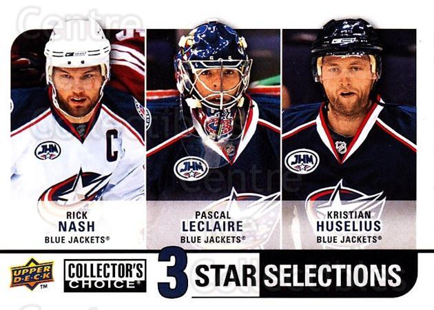 2008-09 Collectors Choice #259 Rick Nash, Pascal Leclaire, Kristian Huselius<br/>2 In Stock - $3.00 each - <a href=https://centericecollectibles.foxycart.com/cart?name=2008-09%20Collectors%20Choice%20%23259%20Rick%20Nash,%20Pasc...&quantity_max=2&price=$3.00&code=279935 class=foxycart> Buy it now! </a>