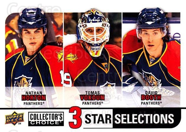 2008-09 Collectors Choice #263 Nathan Horton, Tomas Vokoun, David Booth<br/>3 In Stock - $3.00 each - <a href=https://centericecollectibles.foxycart.com/cart?name=2008-09%20Collectors%20Choice%20%23263%20Nathan%20Horton,%20...&quantity_max=3&price=$3.00&code=279939 class=foxycart> Buy it now! </a>