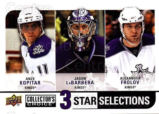 2008-09 Collectors Choice #264 Anze Kopitar, Jason LaBerbera, Alexander Frolov<br/>2 In Stock - $3.00 each - <a href=https://centericecollectibles.foxycart.com/cart?name=2008-09%20Collectors%20Choice%20%23264%20Anze%20Kopitar,%20J...&quantity_max=2&price=$3.00&code=279940 class=foxycart> Buy it now! </a>