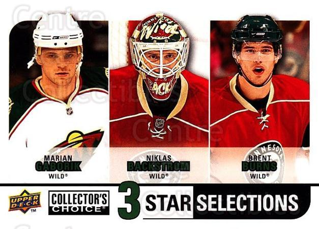 2008-09 Collectors Choice #265 Marian Gaborik, Niklas Backstrom, Brent Burns<br/>3 In Stock - $3.00 each - <a href=https://centericecollectibles.foxycart.com/cart?name=2008-09%20Collectors%20Choice%20%23265%20Marian%20Gaborik,...&quantity_max=3&price=$3.00&code=279941 class=foxycart> Buy it now! </a>