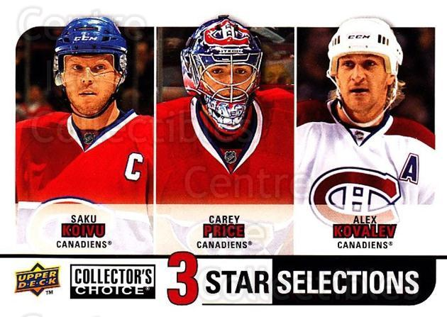 2008-09 Collectors Choice #266 Saku Koivu, Carey Price, Alexei Kovalev<br/>1 In Stock - $3.00 each - <a href=https://centericecollectibles.foxycart.com/cart?name=2008-09%20Collectors%20Choice%20%23266%20Saku%20Koivu,%20Car...&quantity_max=1&price=$3.00&code=279942 class=foxycart> Buy it now! </a>