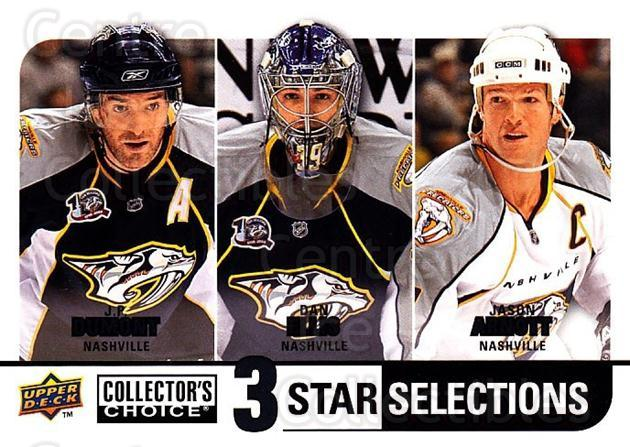 2008-09 Collectors Choice #267 JP Dumont, Dan Ellis, Jason Arnott<br/>1 In Stock - $3.00 each - <a href=https://centericecollectibles.foxycart.com/cart?name=2008-09%20Collectors%20Choice%20%23267%20JP%20Dumont,%20Dan%20...&quantity_max=1&price=$3.00&code=279943 class=foxycart> Buy it now! </a>