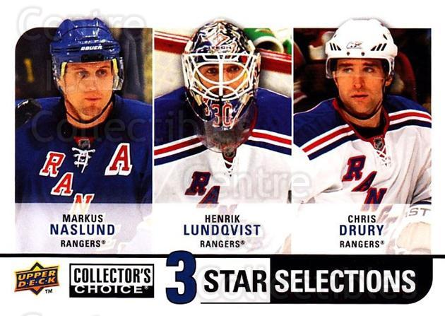 2008-09 Collectors Choice #270 Markus Naslund, Henrik Lundqvist, Chris Drury<br/>2 In Stock - $3.00 each - <a href=https://centericecollectibles.foxycart.com/cart?name=2008-09%20Collectors%20Choice%20%23270%20Markus%20Naslund,...&quantity_max=2&price=$3.00&code=279946 class=foxycart> Buy it now! </a>