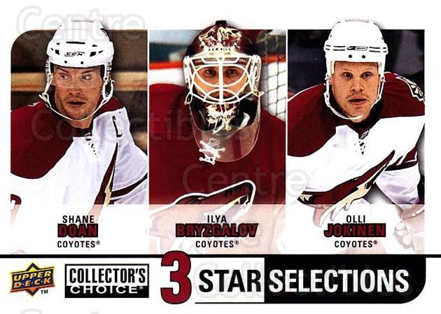 2008-09 Collectors Choice #273 Shane Doan, Ilya Bryzgalov, Olli Jokinen<br/>1 In Stock - $3.00 each - <a href=https://centericecollectibles.foxycart.com/cart?name=2008-09%20Collectors%20Choice%20%23273%20Shane%20Doan,%20Ily...&quantity_max=1&price=$3.00&code=279949 class=foxycart> Buy it now! </a>