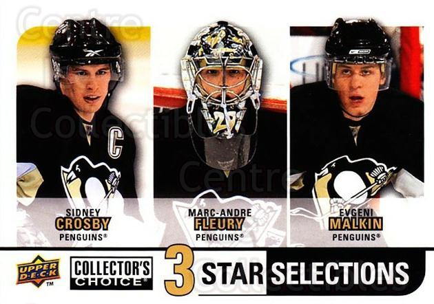 2008-09 Collectors Choice #274 Sidney Crosby, Marc-Andre Fleury, Evgeni Malkin<br/>2 In Stock - $5.00 each - <a href=https://centericecollectibles.foxycart.com/cart?name=2008-09%20Collectors%20Choice%20%23274%20Sidney%20Crosby,%20...&quantity_max=2&price=$5.00&code=279950 class=foxycart> Buy it now! </a>