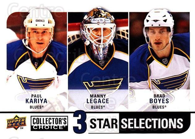 2008-09 Collectors Choice #276 Paul Kariya, Manny Legace, Brad Boyes<br/>1 In Stock - $3.00 each - <a href=https://centericecollectibles.foxycart.com/cart?name=2008-09%20Collectors%20Choice%20%23276%20Paul%20Kariya,%20Ma...&quantity_max=1&price=$3.00&code=279952 class=foxycart> Buy it now! </a>