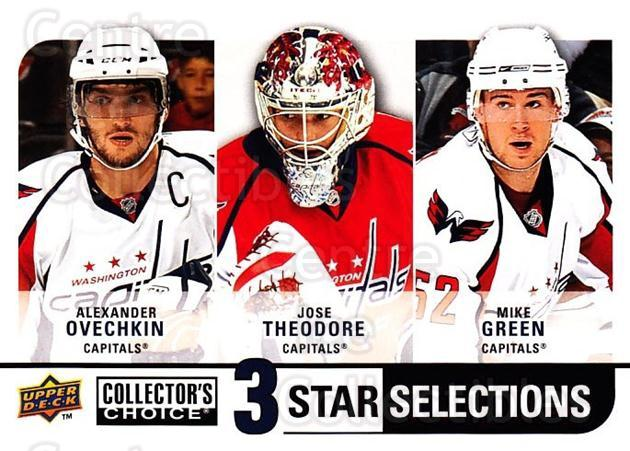 2008-09 Collectors Choice #280 Alexander Ovechkin, Jose Theodore, Mike Green<br/>1 In Stock - $3.00 each - <a href=https://centericecollectibles.foxycart.com/cart?name=2008-09%20Collectors%20Choice%20%23280%20Alexander%20Ovech...&quantity_max=1&price=$3.00&code=279956 class=foxycart> Buy it now! </a>
