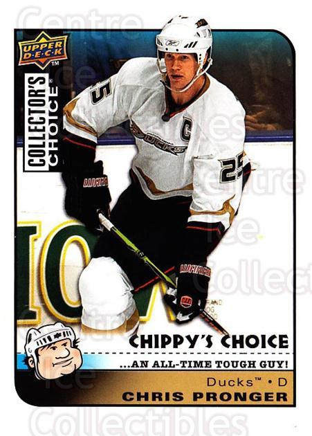 2008-09 Collectors Choice #283 Chris Pronger<br/>2 In Stock - $3.00 each - <a href=https://centericecollectibles.foxycart.com/cart?name=2008-09%20Collectors%20Choice%20%23283%20Chris%20Pronger...&quantity_max=2&price=$3.00&code=279959 class=foxycart> Buy it now! </a>
