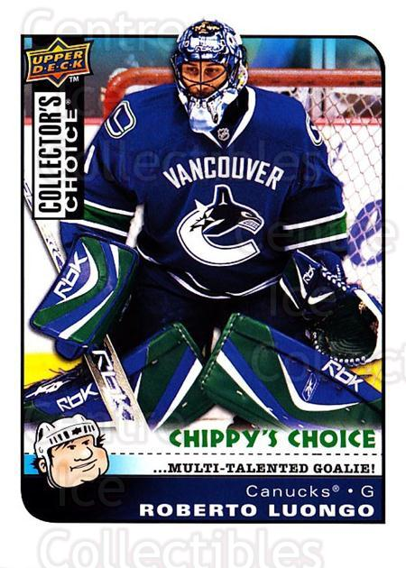 2008-09 Collectors Choice #295 Roberto Luongo<br/>3 In Stock - $3.00 each - <a href=https://centericecollectibles.foxycart.com/cart?name=2008-09%20Collectors%20Choice%20%23295%20Roberto%20Luongo...&quantity_max=3&price=$3.00&code=279971 class=foxycart> Buy it now! </a>