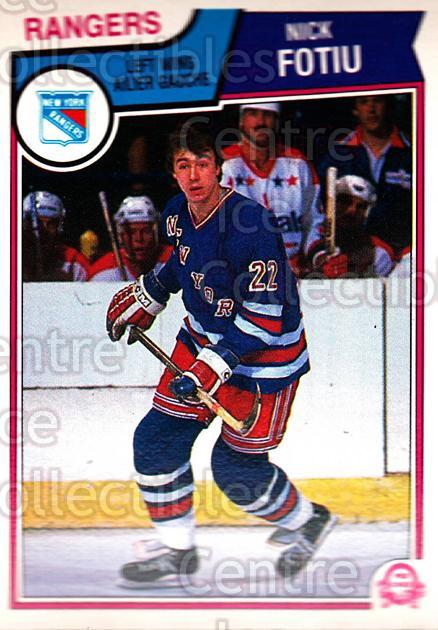 1983-84 O-Pee-Chee #243 Nick Fotiu<br/>9 In Stock - $1.00 each - <a href=https://centericecollectibles.foxycart.com/cart?name=1983-84%20O-Pee-Chee%20%23243%20Nick%20Fotiu...&quantity_max=9&price=$1.00&code=28002 class=foxycart> Buy it now! </a>