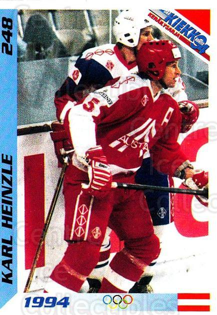 1994 Finnish Jaa Kiekko #248 Karl Heinzle<br/>4 In Stock - $2.00 each - <a href=https://centericecollectibles.foxycart.com/cart?name=1994%20Finnish%20Jaa%20Kiekko%20%23248%20Karl%20Heinzle...&quantity_max=4&price=$2.00&code=2800 class=foxycart> Buy it now! </a>