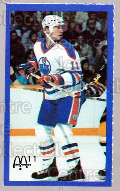 1983-84 McDonalds Edmonton Oilers Stickers #18 Mark Messier<br/>2 In Stock - $3.00 each - <a href=https://centericecollectibles.foxycart.com/cart?name=1983-84%20McDonalds%20Edmonton%20Oilers%20Stickers%20%2318%20Mark%20Messier...&quantity_max=2&price=$3.00&code=28019 class=foxycart> Buy it now! </a>