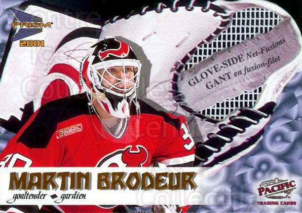 2000-01 McDonald's Pacific Glove Side Net Fusions #4 Martin Brodeur<br/>1 In Stock - $5.00 each - <a href=https://centericecollectibles.foxycart.com/cart?name=2000-01%20McDonald's%20Pacific%20Glove%20Side%20Net%20Fusions%20%234%20Martin%20Brodeur...&price=$5.00&code=280305 class=foxycart> Buy it now! </a>