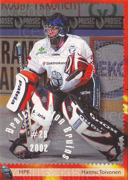 2002-03 Finnish Cardset #280 Hannu Toivonen<br/>1 In Stock - $2.00 each - <a href=https://centericecollectibles.foxycart.com/cart?name=2002-03%20Finnish%20Cardset%20%23280%20Hannu%20Toivonen...&quantity_max=1&price=$2.00&code=280407 class=foxycart> Buy it now! </a>