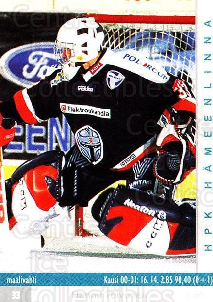2001-02 Finnish Cardset #213 Hannu Toivonen<br/>1 In Stock - $3.00 each - <a href=https://centericecollectibles.foxycart.com/cart?name=2001-02%20Finnish%20Cardset%20%23213%20Hannu%20Toivonen...&quantity_max=1&price=$3.00&code=280427 class=foxycart> Buy it now! </a>