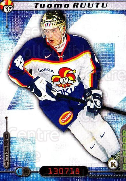 2000-01 Finnish Cardset #165 Tuomo Ruutu<br/>1 In Stock - $2.00 each - <a href=https://centericecollectibles.foxycart.com/cart?name=2000-01%20Finnish%20Cardset%20%23165%20Tuomo%20Ruutu...&price=$2.00&code=280436 class=foxycart> Buy it now! </a>