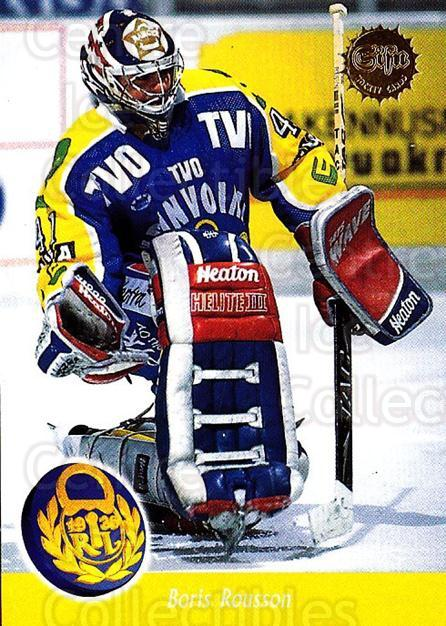 1994-95 Finnish SISU #329 Boris Rousson<br/>1 In Stock - $2.00 each - <a href=https://centericecollectibles.foxycart.com/cart?name=1994-95%20Finnish%20SISU%20%23329%20Boris%20Rousson...&quantity_max=1&price=$2.00&code=280514 class=foxycart> Buy it now! </a>
