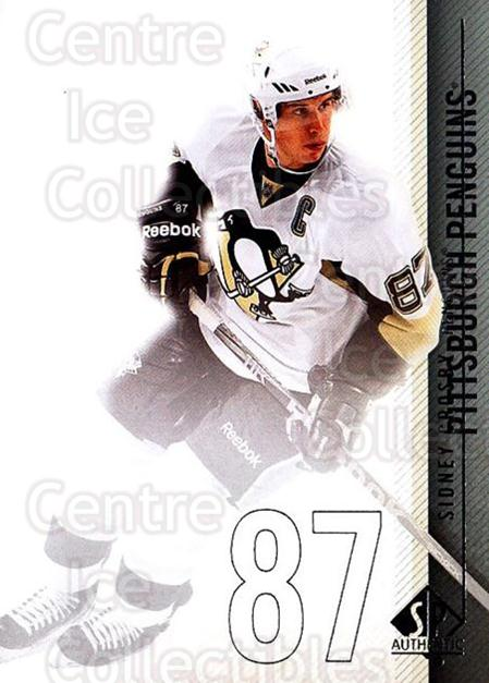 2010-11 Sp Authentic #1 Sidney Crosby<br/>2 In Stock - $3.00 each - <a href=https://centericecollectibles.foxycart.com/cart?name=2010-11%20Sp%20Authentic%20%231%20Sidney%20Crosby...&quantity_max=2&price=$3.00&code=280520 class=foxycart> Buy it now! </a>