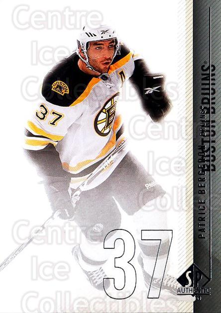 2010-11 Sp Authentic #28 Patrice Bergeron<br/>2 In Stock - $2.00 each - <a href=https://centericecollectibles.foxycart.com/cart?name=2010-11%20Sp%20Authentic%20%2328%20Patrice%20Bergero...&quantity_max=2&price=$2.00&code=280547 class=foxycart> Buy it now! </a>