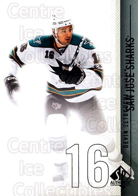 2010-11 Sp Authentic #30 Devin Setoguchi<br/>3 In Stock - $1.00 each - <a href=https://centericecollectibles.foxycart.com/cart?name=2010-11%20Sp%20Authentic%20%2330%20Devin%20Setoguchi...&quantity_max=3&price=$1.00&code=280549 class=foxycart> Buy it now! </a>