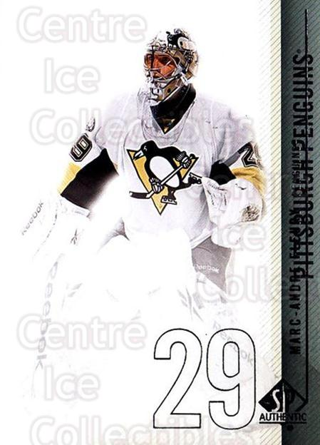 2010-11 Sp Authentic #45 Marc-Andre Fleury<br/>2 In Stock - $2.00 each - <a href=https://centericecollectibles.foxycart.com/cart?name=2010-11%20Sp%20Authentic%20%2345%20Marc-Andre%20Fleu...&quantity_max=2&price=$2.00&code=280564 class=foxycart> Buy it now! </a>