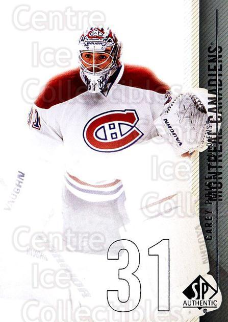2010-11 Sp Authentic #46 Carey Price<br/>1 In Stock - $3.00 each - <a href=https://centericecollectibles.foxycart.com/cart?name=2010-11%20Sp%20Authentic%20%2346%20Carey%20Price...&quantity_max=1&price=$3.00&code=280565 class=foxycart> Buy it now! </a>
