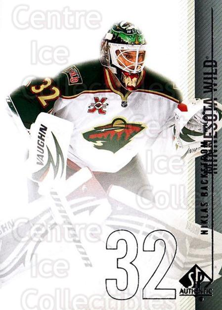 2010-11 Sp Authentic #125 Niklas Backstrom<br/>3 In Stock - $1.00 each - <a href=https://centericecollectibles.foxycart.com/cart?name=2010-11%20Sp%20Authentic%20%23125%20Niklas%20Backstro...&quantity_max=3&price=$1.00&code=280644 class=foxycart> Buy it now! </a>