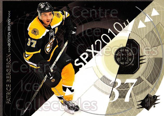 2010-11 Spx #9 Patrice Bergeron<br/>12 In Stock - $2.00 each - <a href=https://centericecollectibles.foxycart.com/cart?name=2010-11%20Spx%20%239%20Patrice%20Bergero...&quantity_max=12&price=$2.00&code=280678 class=foxycart> Buy it now! </a>