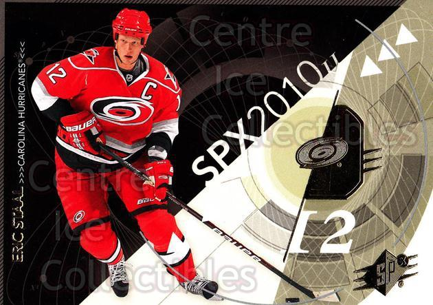 2010-11 Spx #18 Eric Staal<br/>13 In Stock - $1.00 each - <a href=https://centericecollectibles.foxycart.com/cart?name=2010-11%20Spx%20%2318%20Eric%20Staal...&quantity_max=13&price=$1.00&code=280687 class=foxycart> Buy it now! </a>