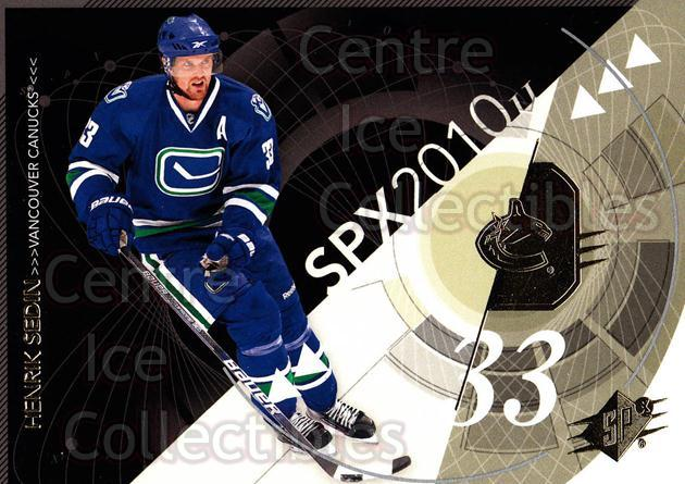 2010-11 Spx #94 Henrik Sedin<br/>13 In Stock - $1.00 each - <a href=https://centericecollectibles.foxycart.com/cart?name=2010-11%20Spx%20%2394%20Henrik%20Sedin...&quantity_max=13&price=$1.00&code=280763 class=foxycart> Buy it now! </a>