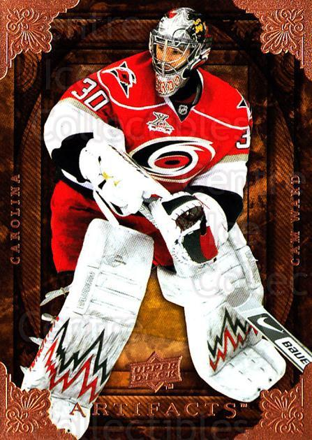 2008-09 UD Artifacts #82 Cam Ward<br/>3 In Stock - $1.00 each - <a href=https://centericecollectibles.foxycart.com/cart?name=2008-09%20UD%20Artifacts%20%2382%20Cam%20Ward...&price=$1.00&code=280851 class=foxycart> Buy it now! </a>