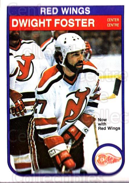 1982-83 O-Pee-Chee #138 Dwight Foster<br/>7 In Stock - $1.00 each - <a href=https://centericecollectibles.foxycart.com/cart?name=1982-83%20O-Pee-Chee%20%23138%20Dwight%20Foster...&quantity_max=7&price=$1.00&code=28147 class=foxycart> Buy it now! </a>