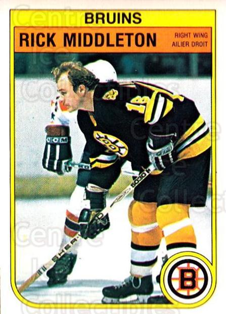 1982-83 O-Pee-Chee #15 Rick Middleton<br/>8 In Stock - $1.00 each - <a href=https://centericecollectibles.foxycart.com/cart?name=1982-83%20O-Pee-Chee%20%2315%20Rick%20Middleton...&quantity_max=8&price=$1.00&code=28160 class=foxycart> Buy it now! </a>