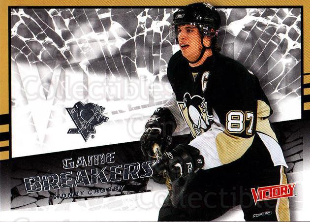 2008-09 UD Victory Game Breakers #1 Sidney Crosby<br/>4 In Stock - $5.00 each - <a href=https://centericecollectibles.foxycart.com/cart?name=2008-09%20UD%20Victory%20Game%20Breakers%20%231%20Sidney%20Crosby...&quantity_max=4&price=$5.00&code=281777 class=foxycart> Buy it now! </a>