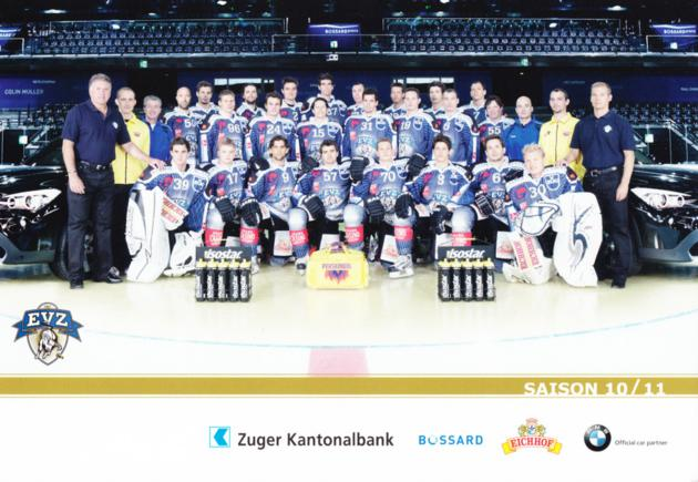 2010-11 Swiss EV Zug Postcards #27 Team Photo<br/>3 In Stock - $3.00 each - <a href=https://centericecollectibles.foxycart.com/cart?name=2010-11%20Swiss%20EV%20Zug%20Postcards%20%2327%20Team%20Photo...&price=$3.00&code=281903 class=foxycart> Buy it now! </a>