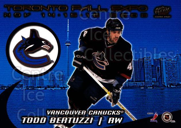 2003 Pacific Toronto Fall Expo Redemption #1 Dave Dickenson, Todd Bertuzzi<br/>1 In Stock - $5.00 each - <a href=https://centericecollectibles.foxycart.com/cart?name=2003%20Pacific%20Toronto%20Fall%20Expo%20Redemption%20%231%20Dave%20Dickenson,...&quantity_max=1&price=$5.00&code=281978 class=foxycart> Buy it now! </a>