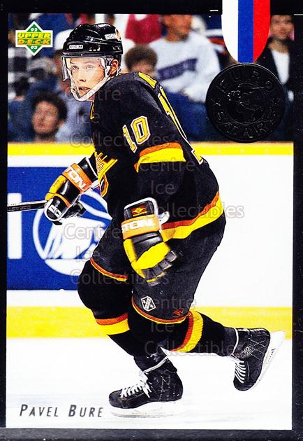 1992-93 Upper Deck Euro Stars #2 Pavel Bure<br/>2 In Stock - $5.00 each - <a href=https://centericecollectibles.foxycart.com/cart?name=1992-93%20Upper%20Deck%20Euro%20Stars%20%232%20Pavel%20Bure...&quantity_max=2&price=$5.00&code=282010 class=foxycart> Buy it now! </a>