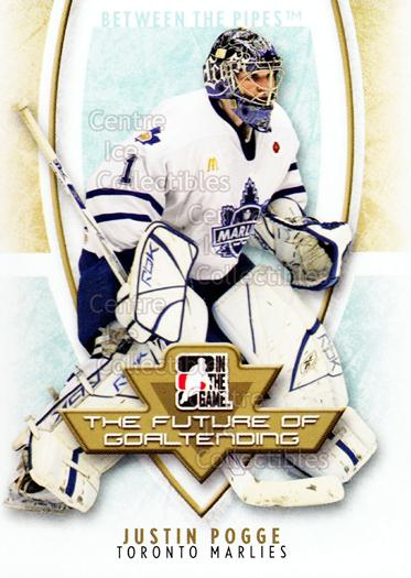 2007-08 Between The Pipes The Future of Goaltending #7 Justin Pogge<br/>23 In Stock - $2.00 each - <a href=https://centericecollectibles.foxycart.com/cart?name=2007-08%20Between%20The%20Pipes%20The%20Future%20of%20Goaltending%20%237%20Justin%20Pogge...&quantity_max=23&price=$2.00&code=282186 class=foxycart> Buy it now! </a>